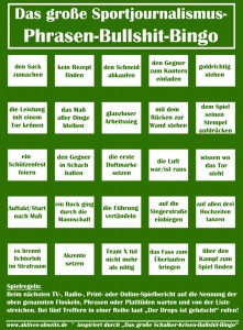 Sportjournalismus Phrasen Bingo © Aktives Abseits